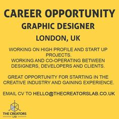 JOB ALEART! No you don't need much experience to apply the main part is that we are looking for someone who has a lot of passion and enjoys working in the creative industry.  Feel free to tag anyone you know who maybe interested in this opportunity which can lead to a long term job!  Email CV to hello@thecreatorslab.co.uk  Thanks by adilhx
