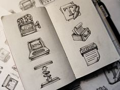 beautiful, concepts, design, Icon, Inspiration, Paper, pencil, professional, sketches