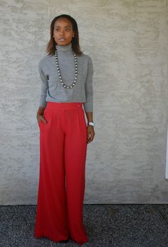 Splash of Red #look #fashion