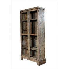 "Camino Bookcase 	  Camino Bookcase  Mixed Reclaimed Woods  46"" W x 16"" D x 90"" H  Finish/Color(s): Rustic Natural"
