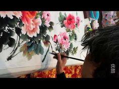 Traditional Chinese Art : Peony Painting by  Artist Li Pin - YouTube
