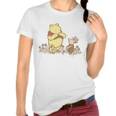 Cute ! Classic Winnie the Pooh and Piglet Tee Shirt