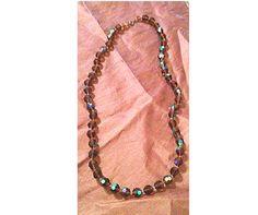 Vintage lucious brown aurora borealis crystal by paperwerks #etsy $35.00