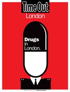 Time Out Drugs in London, illustration by Noma Bar