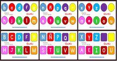 SÚPER POSTER con abecedario minúsculas y mayúsculas: diferentes formatos y tipos de letras