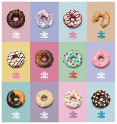 Fundacion Nextel, POGO, creative co♡ Donut Flavors, Donut Recipes, Donut Toppings, Keto Recipes, Mexican Dessert Recipes, Donut Decorations, Cute Donuts, Delicious Donuts, Donut Shop