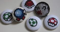 How To Make Cross Stitch Badges (and a giveaway).