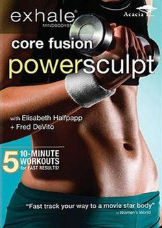 awesome Exhale: Core Fusion Power Sculpt - Get lean thighs, a lifted butt, toned arms, a. Lose 5 Pounds, Losing 10 Pounds, 20 Pounds, Workout Dvds, Workout Videos, Workouts, Exercises, Pilates Workout, Workout Routines