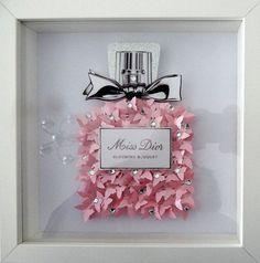 Miss Dior Parfüm Flasche Bild 3d Schmetterlinge