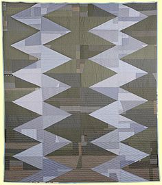 "Untitled #10, 2011, 89.5"" x 77.5"", 100% cotton, machine pieced, hand quilted, c. 2011 by Sarah Nishiura"