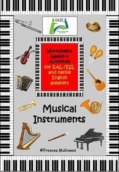 This printable resource Musical Instruments provides a range of worksheets activities and games for teaching and reinforcing the vocabulary of 20 musical instruments through listening, speaking, reading and writing. The resource also includes learning and recording a few facts about some musical instruments.