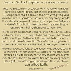 BreakupLife.com - by Doe Zantamata: One more try or enough is enough?