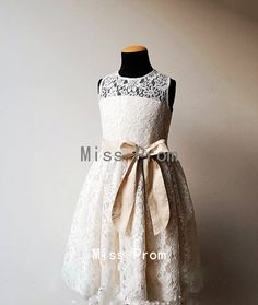 lace flower girl dress wedding flower girl dress by missprom, $38.99