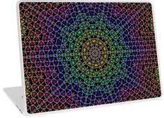 Rainbow Kaleidoscope Hearts Pattern   Design available for PC Laptop, MacBook Air, MacBook Pro, & MacBook Retina