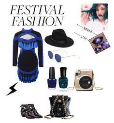 """festival fashion"" by lov3story on Polyvore featuring Mode, Yves Saint Laurent, Chanel, Illesteva, Lack of Color, OPI, Deborah Lippmann, contest, contestentry und festivalfashion"