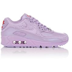 """Nike Air Max 90 QS """"Paris"""" Sneakers (16270 DZD) ❤ liked on Polyvore featuring shoes, sneakers, nike, trainers, purple, nike sneakers, lace up shoes, cushioned shoes, laced shoes and round cap"""