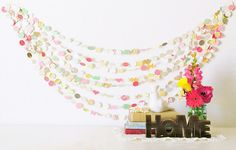 the New Vintage Love 30' Wedding Paper Garland, decor, nursery, party, shower  Possible nursery theme?