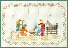 Mini Nativity Sampler - Xmas Cross Stitch Kit on 14 aida - good for beginners