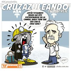 """""""Cruzazuleando en Montreal"""" #ElCartonDelDia #zheko_grafico #DidfrutenloConLeche"""