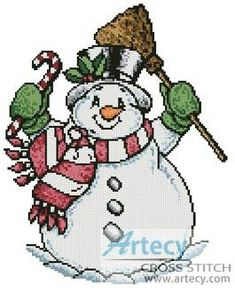 Snowman cross stitch pattern. - *********************************************************