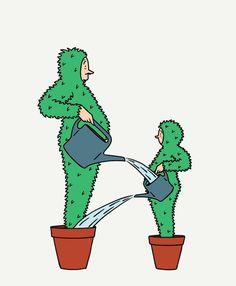 Funny Editorial Illustrations by Jean-Michel Tixier – Fubiz Media