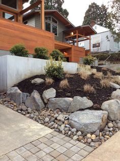 Our Portland landscaping and installation team addressed the drainage and erosion problems on the property, and set out to give the space more curb appeal and usability with low-maintenance solutions. ** Click image to read more details. #LandscapingTips
