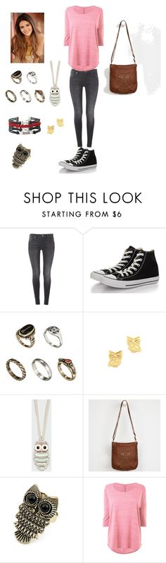 """Tori vega"" by lara241 ❤ liked on Polyvore featuring 7 For All Mankind, Converse, ASOS, Gorjana, Full Tilt, T-shirt & Jeans and Retrò"