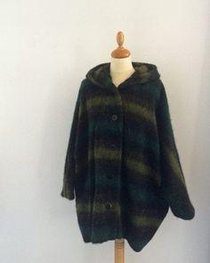 Mohair green coat made by Opian. Green Coat, Fur Coat, Handmade, Jackets, Fashion, Green Trench Coat, Down Jackets, Moda, Hand Made