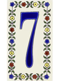 Hand-painted ceramic tiles look like outdoor art. Tlaxcala house numbers Santa Barbara, $13 each, tierrayfuego.com