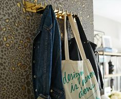 "One Kings Lane - The Starter Space | SMALL-SPACE TIP #2:  ""No hall closet? A coatrack can be a versatile place where you can hang everyday items like a bag, but you can also use it to permanently store some coats."" 
