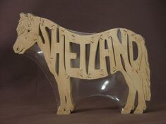 Adorable Shetland Pony Horse  Puzzle Wooden Toy Hand by Puzzimals (Home & Living, puzzle, wood, horse, foal, western, pony, shetland)