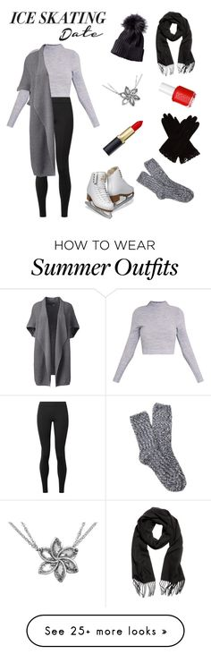 """""""Untitled #14"""" by oliviashoc on Polyvore featuring The Row, Lands' End, AGNELLE, Free Press, Essie, iceskatingoutfit and plus size clothing"""