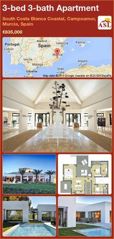3-bed 3-bath Apartment in South Costa Blanca   Coastal, Campoamor, Murcia, Spain ►€835,000 #PropertyForSaleInSpain