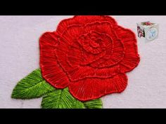 Basic Embroidery Stitches, Hand Embroidery Tutorial, Rose Embroidery, I Can Do It, Rose Design, Red Roses, Hands, Drawings, Youtube