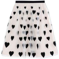 Alice+Olivia 3/4 Length Skirt (2.855 RON) ❤ liked on Polyvore featuring skirts, bottoms, saia, ivory, zipper skirt, winter white skirt, pink skirt, patterned skirts and print skirt