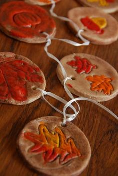 Salt Dough Fall Craft Decorations - Great decor for Harvest or Thanksgiving Parties. Maybe something the kids could make too. From Meaningfulmama.com