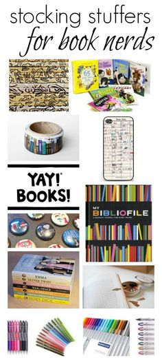 13+ stocking stuffers that will surprise and delight the book lover on your holiday gift list. #holidays #gifts #books