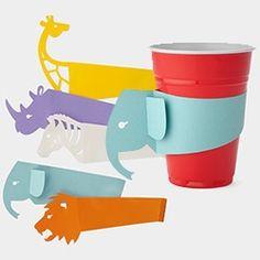 Idea para identificar los vasos en una fiesta