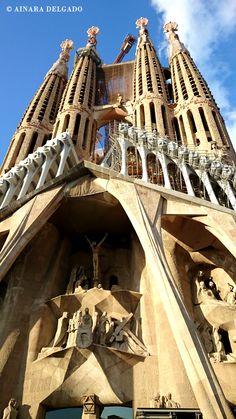 La #SagradaFamilia de #Barcelona el 13-08-2015 #Gaudí
