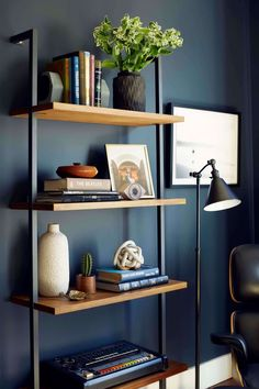 Benjamin Moore Blue Note 2129-30, adds sophistication to this space.