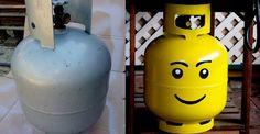 Lego head propane tank!