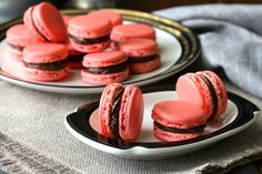 Macarons with a Chocolate Buttercream Filling