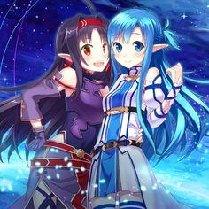 Sword Art Online, Yuuki & Asuna, by buntan