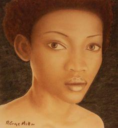 Black Beauty fine art print by R Gregg Miller #pastel #painting #african american #black beauty #art