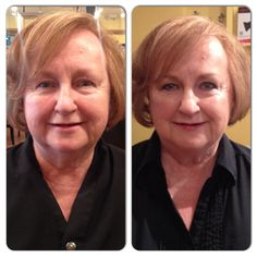 Before and after of Akada Salon Mother's Day makeover contest winner, Kathy