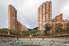 torres del parque rogelio salmona by leonardo finotti Bauhaus, Pisa, American, Building, Travel, Bricks, Towers, Parks, Colombia