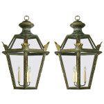 Pair of Italian Hexagonal Lanterns