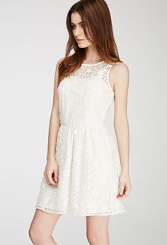 Floral-Embroidered A-Line Dress   Forever 21 - 2049258265