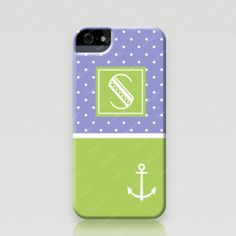 Customized iPhone 5 and 5s Case - Polka Dots & Anchor - Froolu