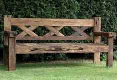 Wooden Bench Ideas Outdoor Stylish and Practical Outdoor Furniture Bench Ideas Wooden Bench Ideas Outdoor. Rustic Outdoor Benches, Outside Benches, Rustic Outdoor Furniture, Wooden Garden Benches, Rustic Bench, Garden Bench Seat, Wooden Furniture, Wooden Bench Plans, Reclaimed Wood Benches
